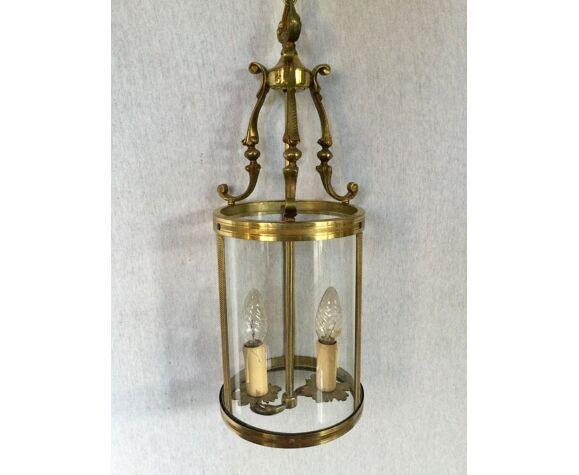 Lanterne 2 lumières en bronze