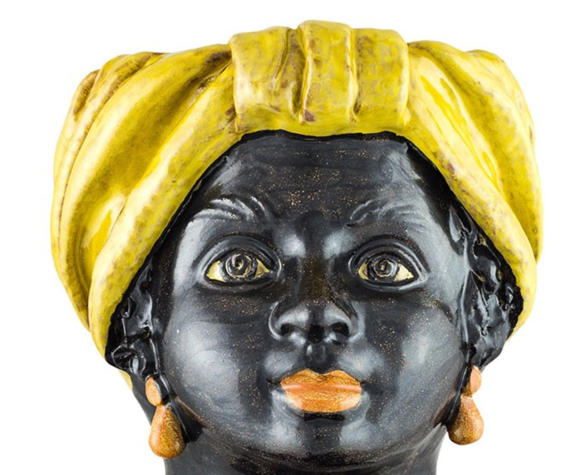 Vase tête moyenne jaune femme