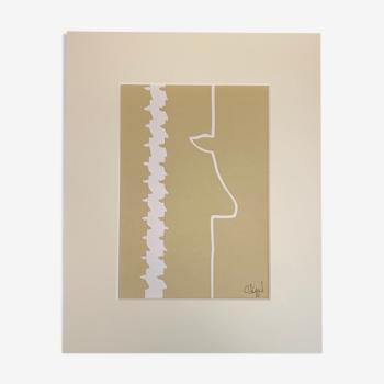 Collage 'Plain Vanilla I' de la série 'Silhouettes'