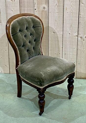 Chaise Victorienne d'enfant en acajou XIXème