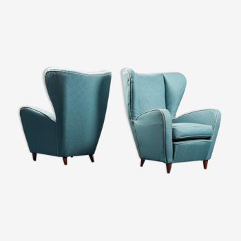 Paire de fauteuils paolo buffa années 50 vintage moderniato