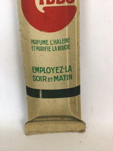 Carton publicitaire en forme de dentifrice