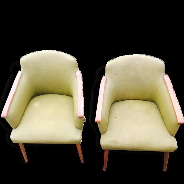 Paire d'authentiques fauteuils haute gamme design scandinave, années 60
