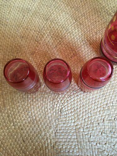 Set de 3 verres et 1 pichet