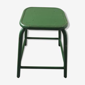 Green military stool