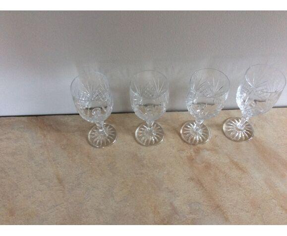 Set de 4 verres à vin en cristal