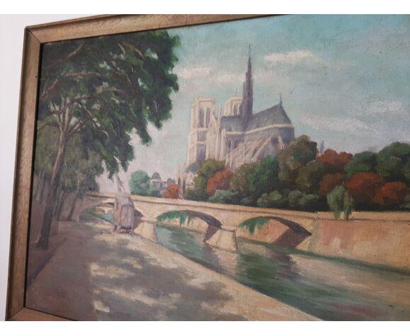 Huile sur toile notre Dame de Paris
