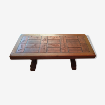 Table basse vintage signée P.Garnier