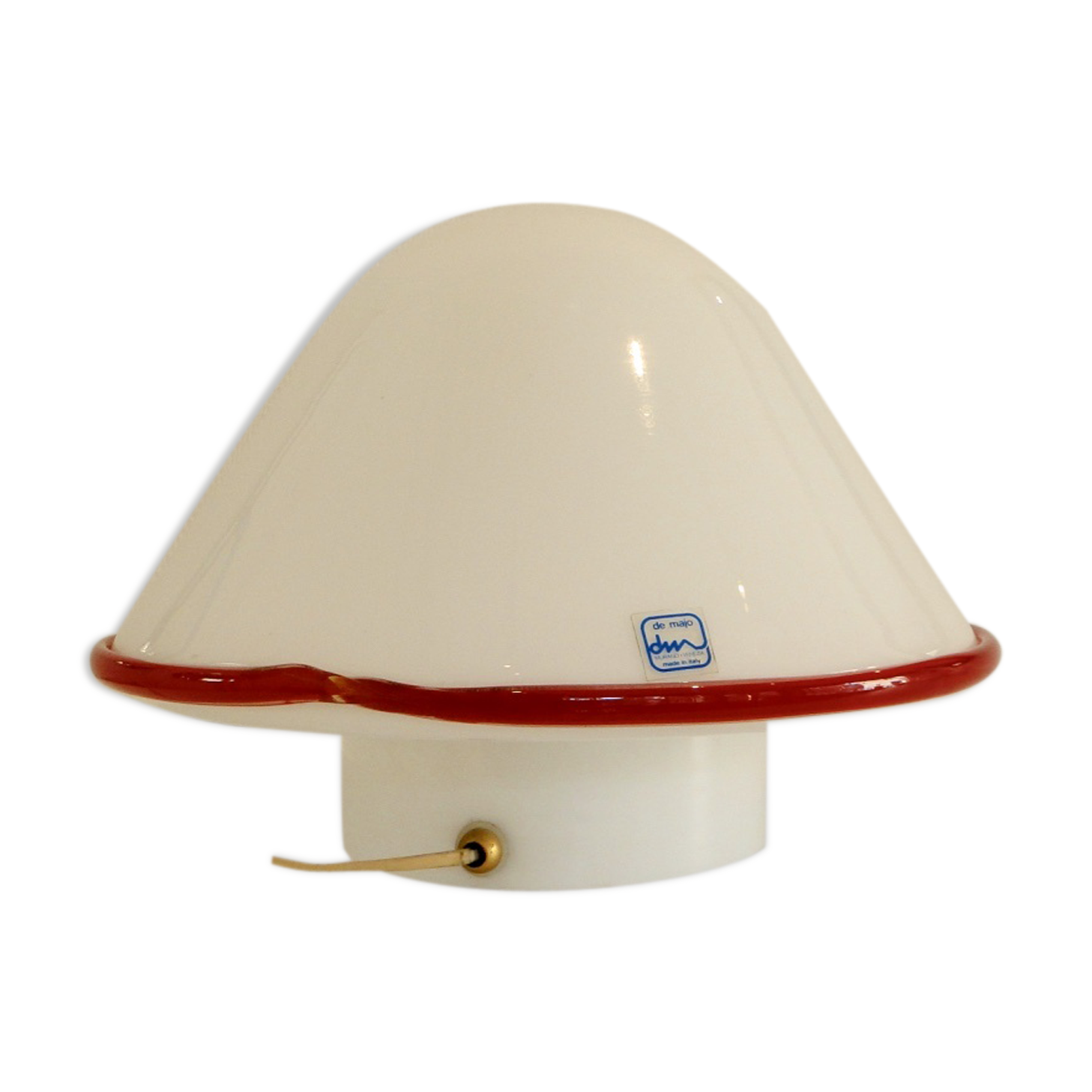 Lampe champignon en verre de Murano par Federico De Majo,1970