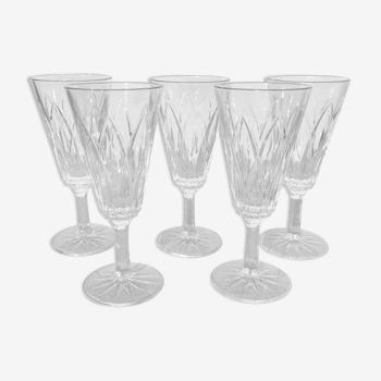 Flûtes à champagne en verre ciselé