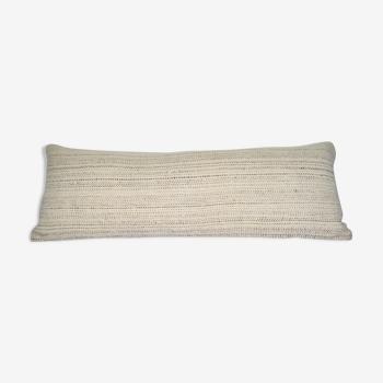 Housse de coussin Kilim en chanvre blanc