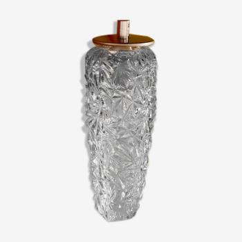 Baladeuse ou suspension en verre ciselé