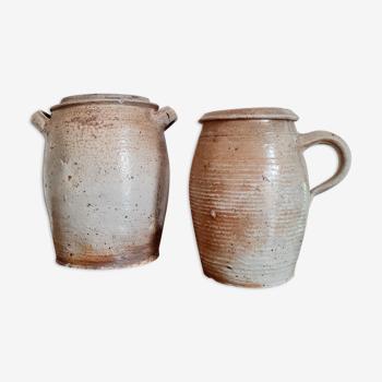 Antique terracotta jars duo