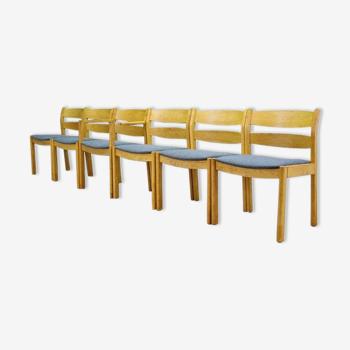 Ensemble de six chaises vintage des années 70/80