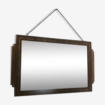 Miroir vintage 1930 bois doré - 51 x 32 cm