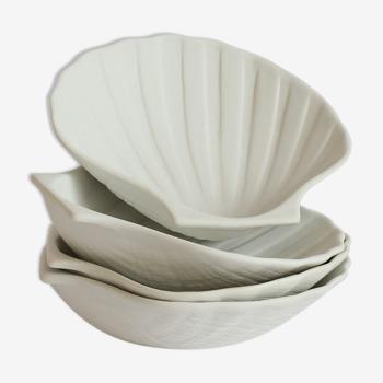 4 seashell cups