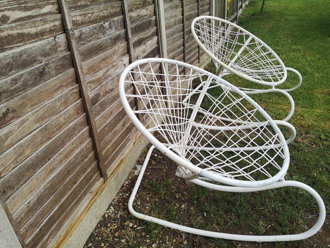 Pair of Ikea rocking chair, model Axvall by Niels Gammelgaard, 2002