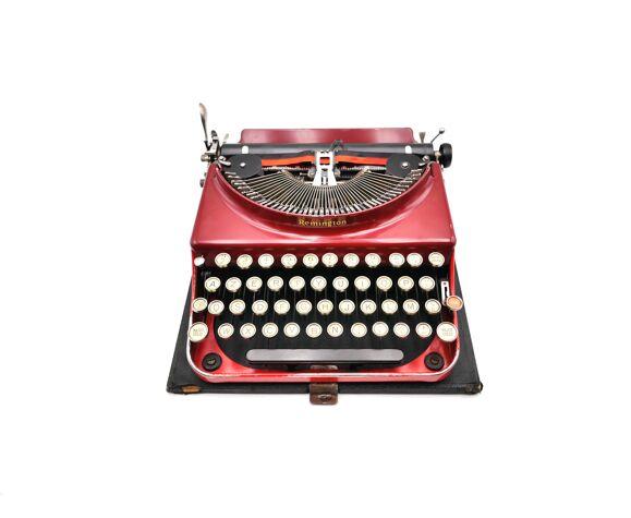 machine à écrire remington 3 rouge bordeaux original USA 1930 révisée ruban neuf