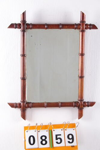Miroir vintage en bambou