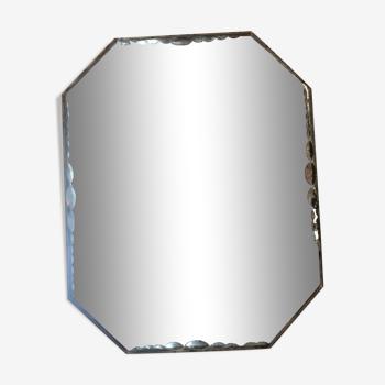 Miroir octogonal  biseauté
