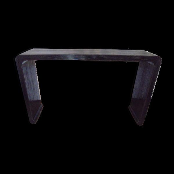 Console vintage en bois laqué noir design asiatique