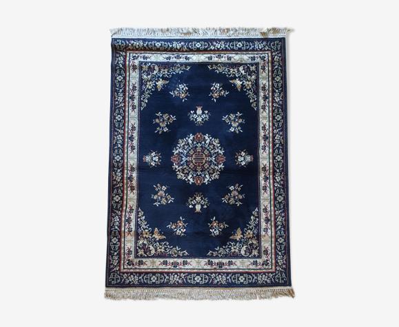 Tapis oriental persan bleu nuit 170x120cm