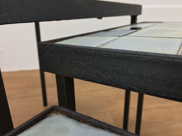 Tables gigognes Mado Jolain céramique 1960