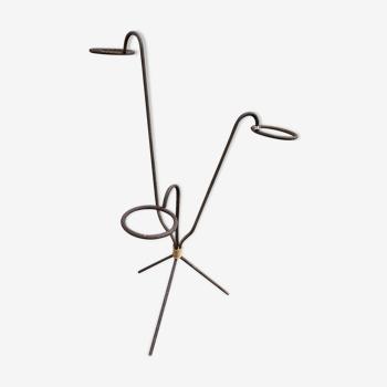 Porte plante en fer forgé 3 branches scandinave