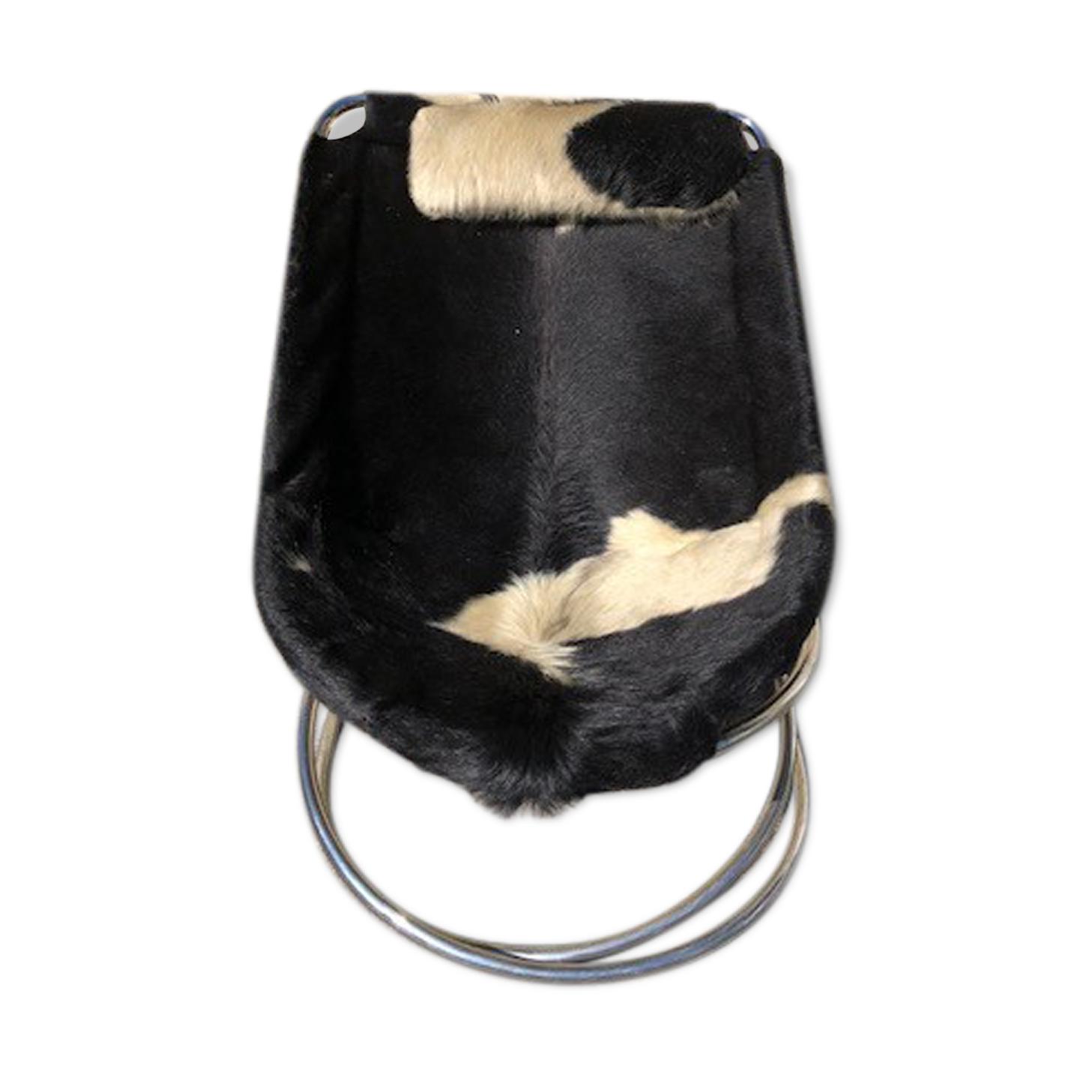 Fauteuil design peau de vache