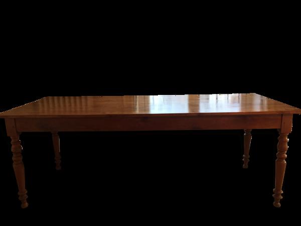 Selency Table de salle à manger en merisier massif
