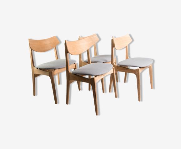 Ensemble de 4 chaises danoises des années 1960