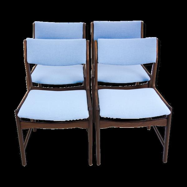 Selency Un ensemble de 4 chaises de salle à manger en teck