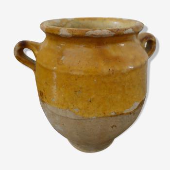 Pot à confit XS vernissé jaune