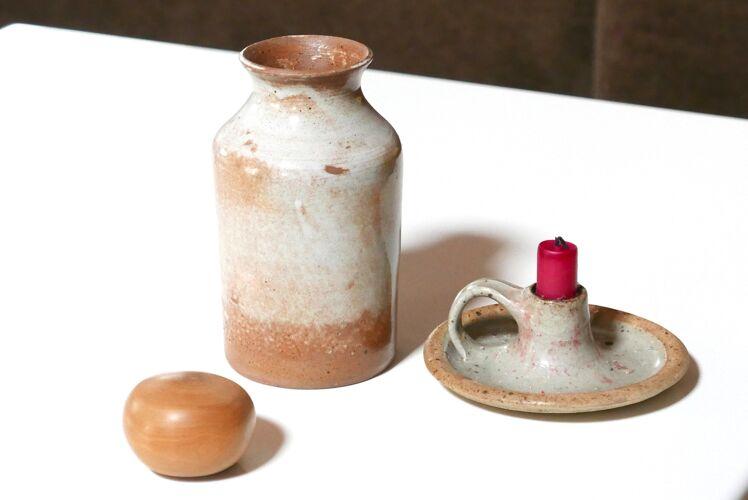 Vase en grès, années 70