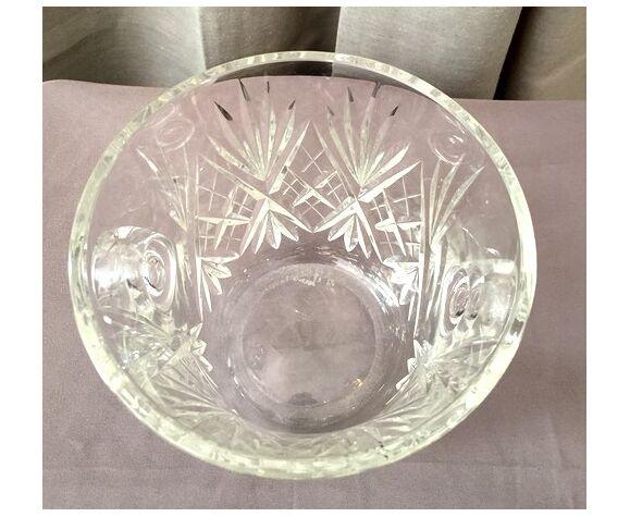 Seau a champagne en cristal de st louis modele chantilly