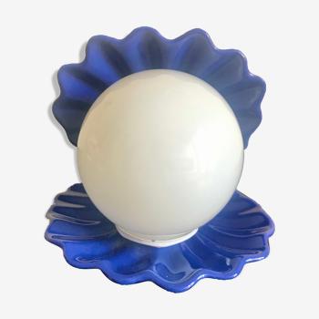 Lampe coquillage céramique