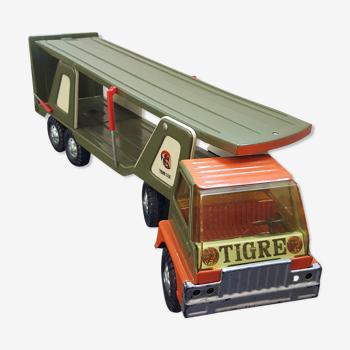 Camion porteur en métal années 70 tigre car gozan made in spain