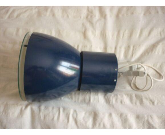 Suspension industrielle metal laqué bleu