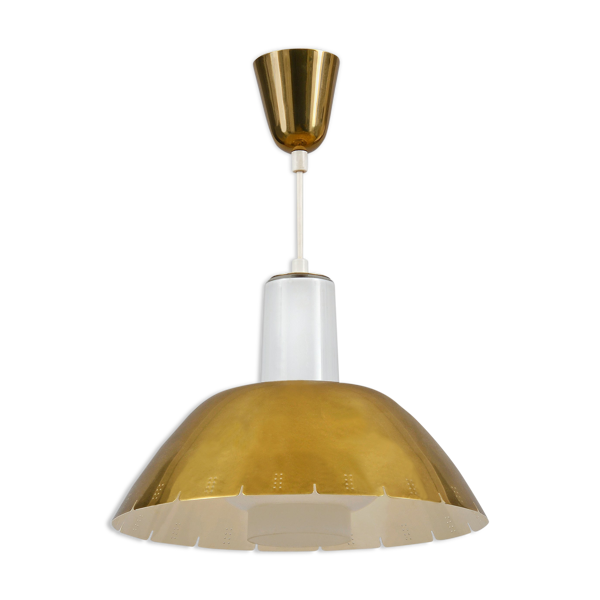 Model K2-20 Brass Ceiling Lamp by Paavo Tynell for Idman