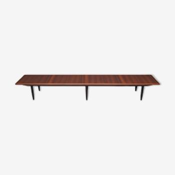 Table basse en acajou, design danois, années 1970, production: Danemark