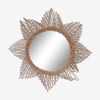 Rattan sun mirror