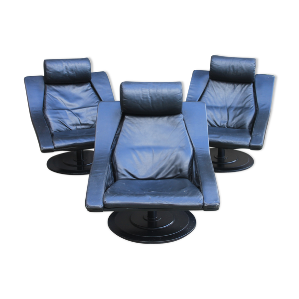 Selency Set de 3 fauteuils Nelo Sweden