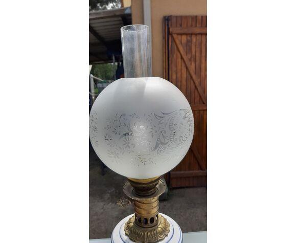 Lampe a Pétrole 19 ème électrifiée
