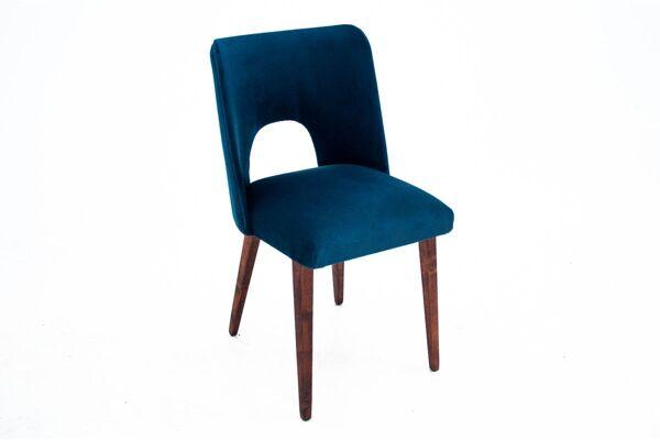 Set de 4 chaises à manger bleues
