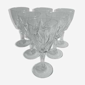 Verres à vin cristal