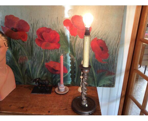 Wooden lamp foot