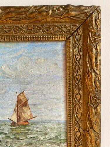 Tableau ancien, Marine, signé XX siècle