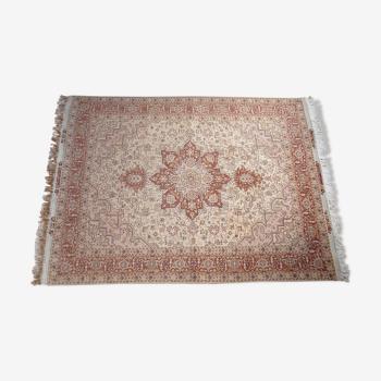 Tapis persan heriz laine et soie fait main 152x203 cm2