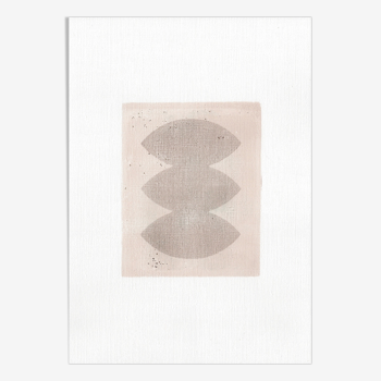 Composition abstraite signée Eawy