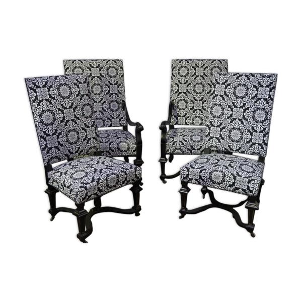 Ensemble de 4 fauteuils Napoléon III
